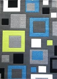 green yellow rugby area rug for waiting wool honeycomb design blue