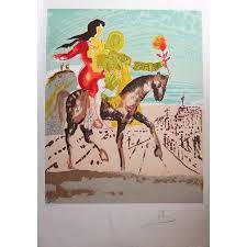 salvador dalí landscape print salvador dali jerum woman riding horse original handsigned