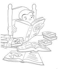 curious george coloring book curious reading a book coloring book page printable curious george reading a curious george coloring book