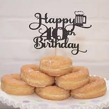 Amazoncom Happy 40th Birthday Cake Topper Beer Themed Party Handmade