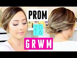 prom 2016 get ready with me makeup hair dress ideas you