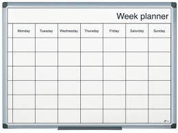 Weekly Planning Magnetic Drywipe Weekly Planning Board