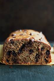 this flourless chocolate chip banana bread is made with no flour er or oil