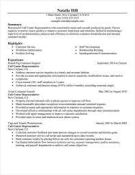 Call Center Representative: Resume Example