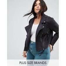 missguided plus faux suede biker jacket missguided plus black 8664604 women casual jackets olzftwq