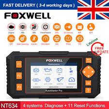 <b>Foxwell NT634</b> Auto ABS SRS SAS TPMS DPF Oil Reset <b>OBD2</b> ...