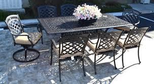 9 piece patio dining set cast aluminum