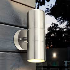 Stainless Steel Up Down Wall Light Us 14 18 17 Off Stainless Steel Up Down Wall Light Gu10 Ip65 Double Outdoor Wall Light In Led Indoor Wall Lamps From Lights Lighting On Aliexpress
