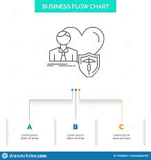 Insurance Family Home Protect Heart Business Flow Chart