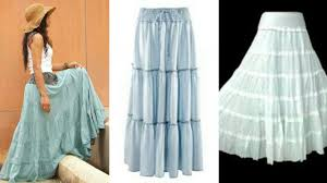 Long Skirt Patterns Cool DIY Long Flared Skirt How To Make Long Flared Skirt Step By Step
