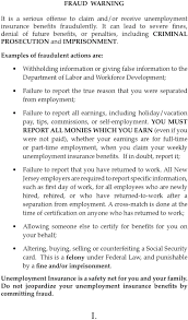 how to write an appeal letter for unemployment disqualification state of new jersey department of labor and workforce development letters