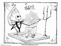 Awesome Disney Nightmare Before Christmas Coloring Pages Nichome