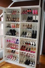 Shoe Daydreams: glass-door shelves from Ikea - Bergsbo