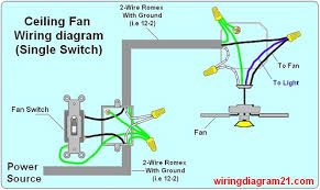 ceiling fan wiring diagram light switch house electrical 4 wires