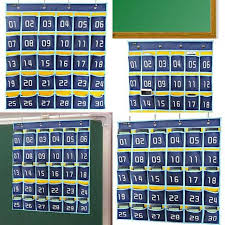 Cell Phone Pocket Chart Misslo Numbered Classroom Pocket Chart For Cell Phones 30 Count Blue
