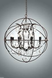 crystal orb chandelier timothy large restoration hardware smoke