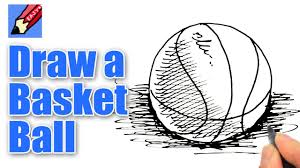 Basketball Drawing Pictures How To Draw A Basketball Real Easy Youtube