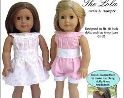 American Girl Clothes Patterns Unique American Girl Doll Clothes Patterns Etsy