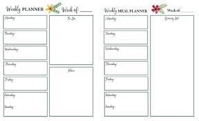 69 Luxury Printable Weekly Menu Planner Template | Sick Note ...