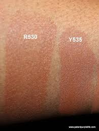 mufe ultra hd swatches r530 and y535