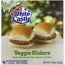 White Castle Vegan Veggie Sliders 7 83 Oz From Kroger