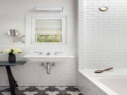 modern bathroom subway tile. Bathroom White Tiles Grey Grout Modern Subway Tile