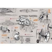 <b>Фотообои</b> бумажные Komar <b>Star Wars</b> Blueprints 8-493 3,68х2,54 м