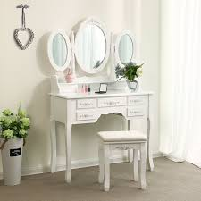 if you are looking for a practical dresser you can t not miss this tri fold mirror dresser with dressing stool this dresser is made of high quality mdf