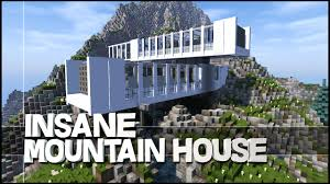 Modern Mountain House Minecraft Insane Modern Mountain House Youtube