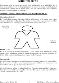 understanding ministry gifts and where we fit i 2 the five fold