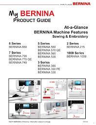 Bernina Comparison Chart My Bernina Product Guide Pdf Manualzz Com