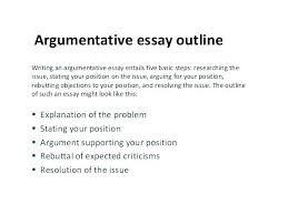 Examples Of Essay Outlines Essay Outline Statistics Project Thesis