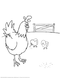 Small Picture Hen And Chicks Coloring Page Coloring Home