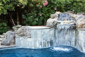 natural looking in ground pools. A Set Of Concrete Steps Follows The Curve Pool And Are Hidden By Natural Looking In Ground Pools