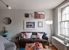 Inspiration for a mid-sized eclectic open concept living room remodel in  New York with