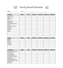 List Template Free Camping List Template