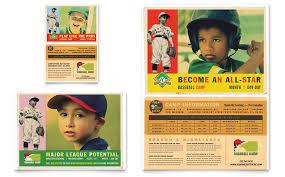 Baseball Brochure Template Baseball Sports Camp Flyer Ad Template Word Publisher