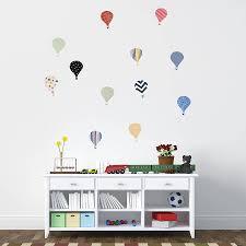 children s hot air balloon wall stickers