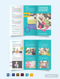 Play School Tri Fold Brochure Template Word Psd