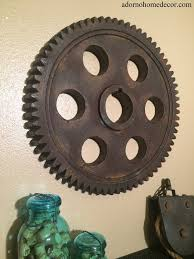 Industrial Wall Decor Metal Gear Wall Art Industrial Antique Vintage Chic Modern Wall