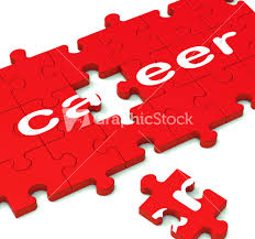 career puzzle showing working plans career puzzle showing working plans stock image