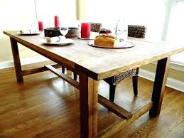rustic wood round dining table wonderful solid