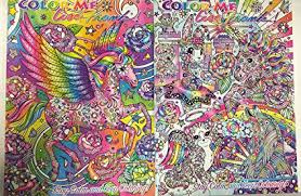 color me lisa frank coloring book 2 pack unicorn