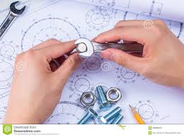 Design Engineer Images Mechanical Design Engineer In Drawing Stock Photo Image Of
