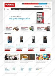 Vending Machine Website Extraordinary Website Templates Food And Drink Vending Machines Supplier Machine