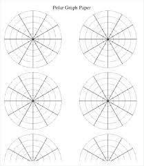 Polar Coordinate Free Cartesian Graph Paper Plane 6 Per Page