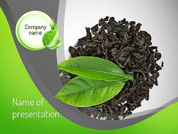 Tea Leaves Powerpoint Template Backgrounds 11065