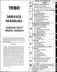 1980 1981 chevrolet medium and heavy truck service manual cd 1980 Chevy Truck Wiring Diagram 1980 table of contents 1980 chevy truck wiring diagram diesel engine