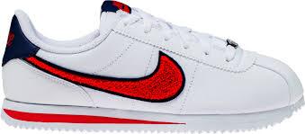 cortez basic leather grade school lifestyle shoe white blue void university red cortez basic leather grade school lifestyle shoe white blue