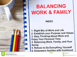 Balancing Work And Family Balancing Work And Family Concept Stock Photo Image Of